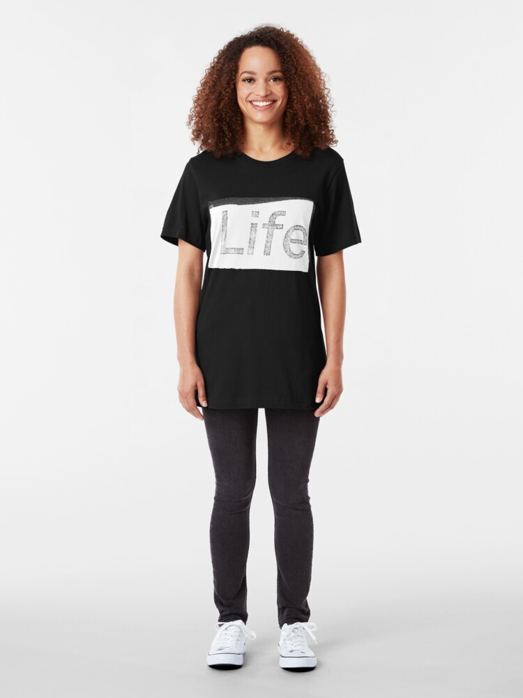 Alternate view of Life. Slim Fit T-Shirt