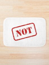 Not stamp Bath Mat