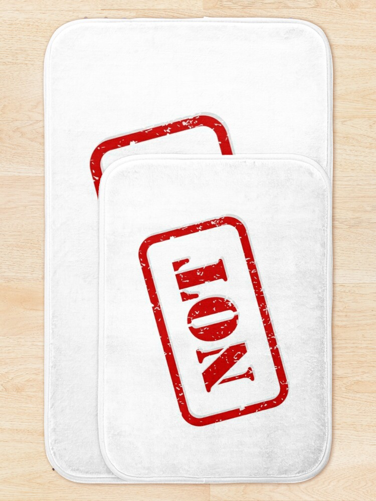 Alternate view of Not stamp Bath Mat