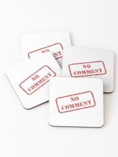 No comment stamp Coasters