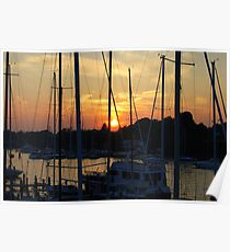 Sunset - Annapolis Maryland Poster