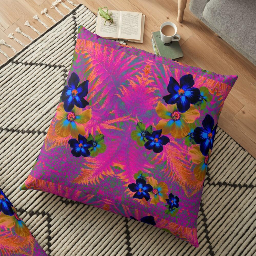 Pink Jungle Floor Pillow