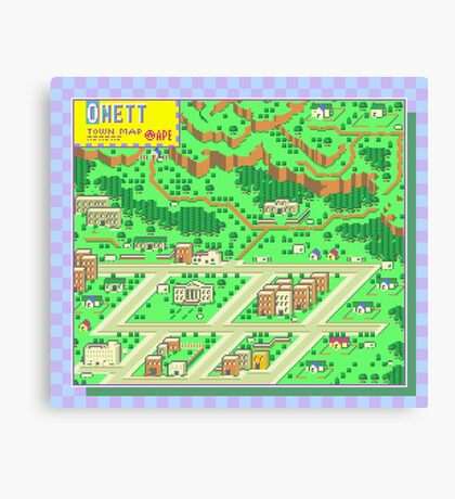 Onett Town Map - Earthbound/Mother 2 Canvas Print