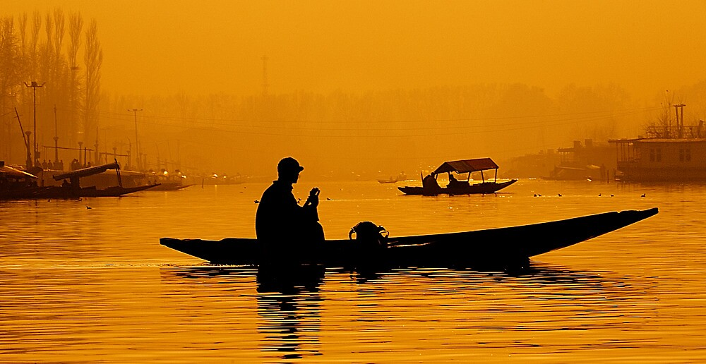 Golden Hour At Dal Lake by Mukesh Srivastava