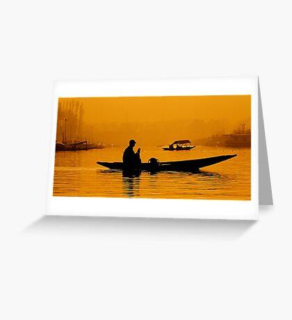 Golden Hour At Dal Lake Greeting Card