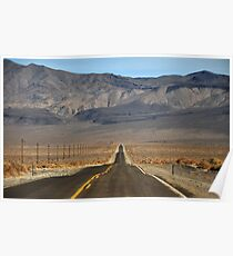 Road in a Desert Poster