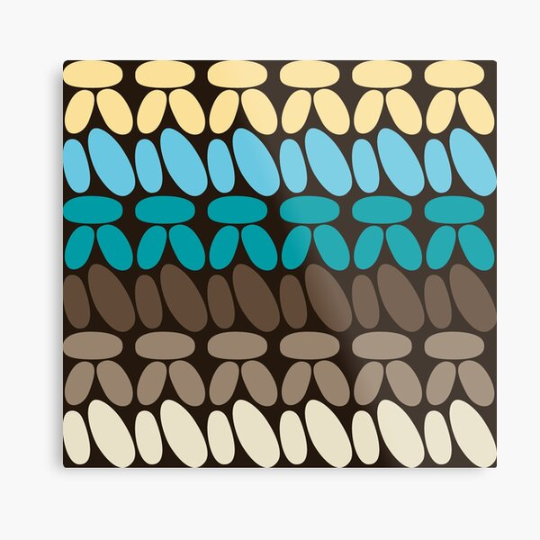Pseudo crochet pattern with beach and ocean colors Metal Print