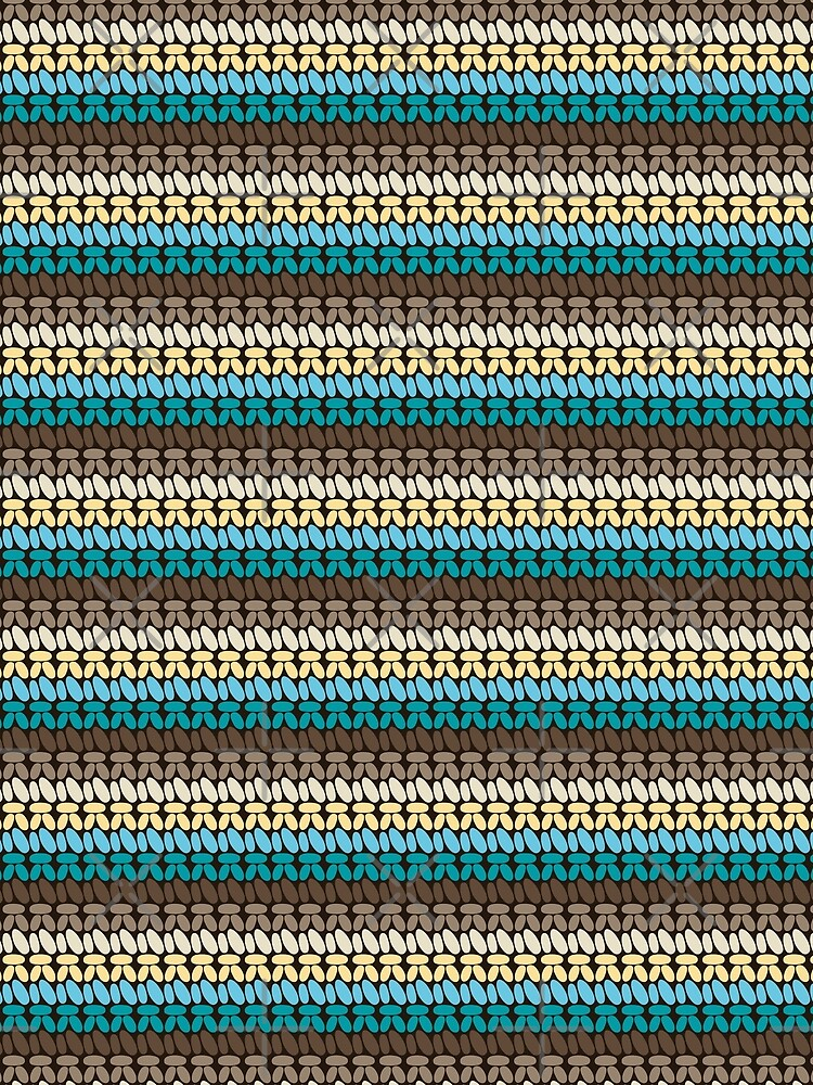 Pseudo crochet pattern with beach and ocean colors by nobelbunt