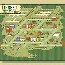 Threed Town Map - Earthbound/Mother 2 by Studio Momo ╰༼ ಠ益ಠ ༽
