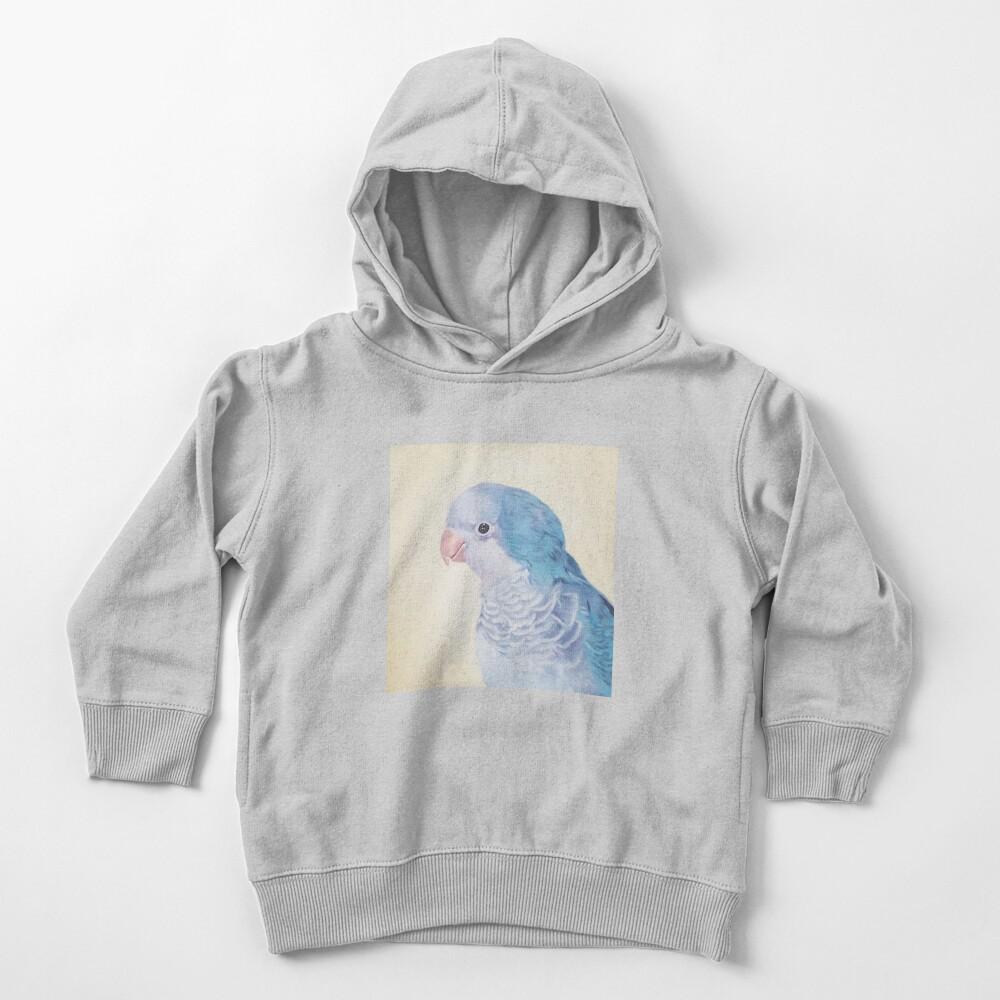 Blue Quaker - pet bird portrait painting Toddler Pullover Hoodie