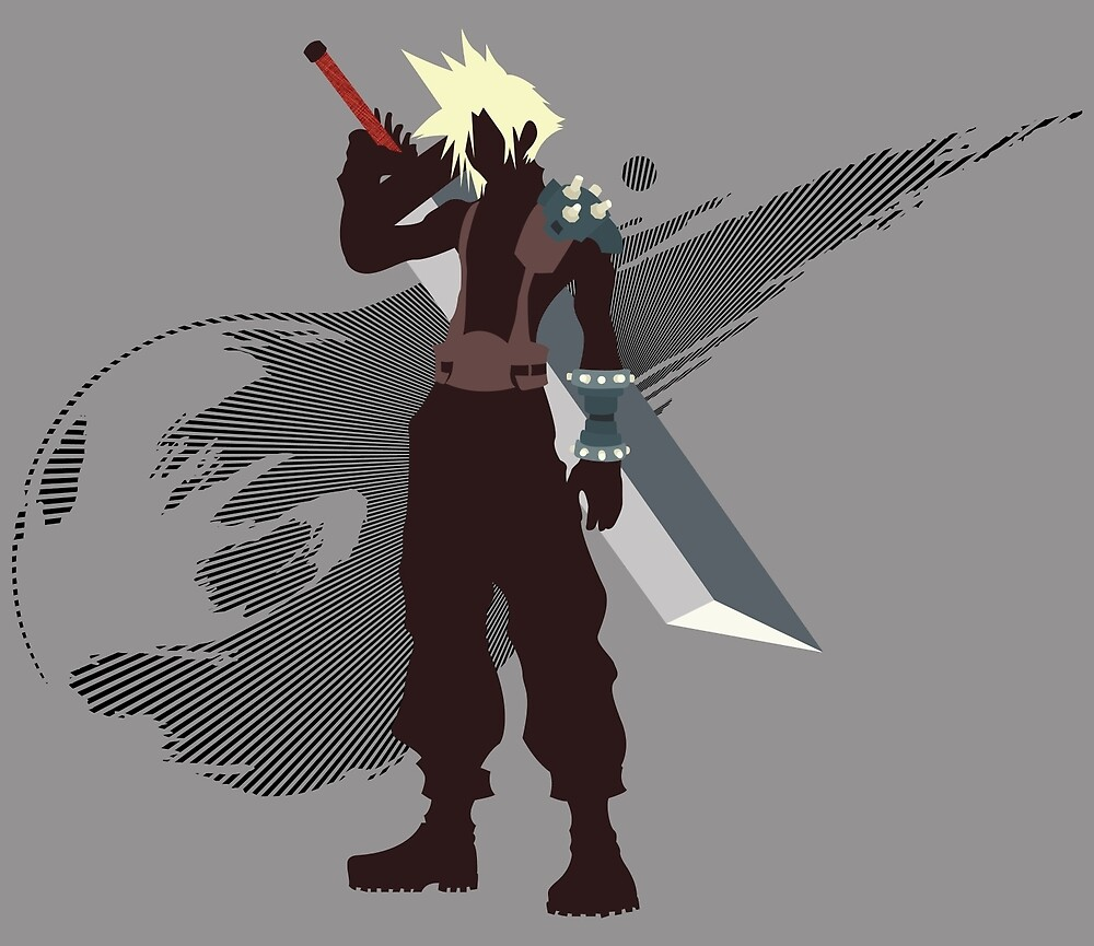 Cloud Strife - Sunset Shores by Kevandre