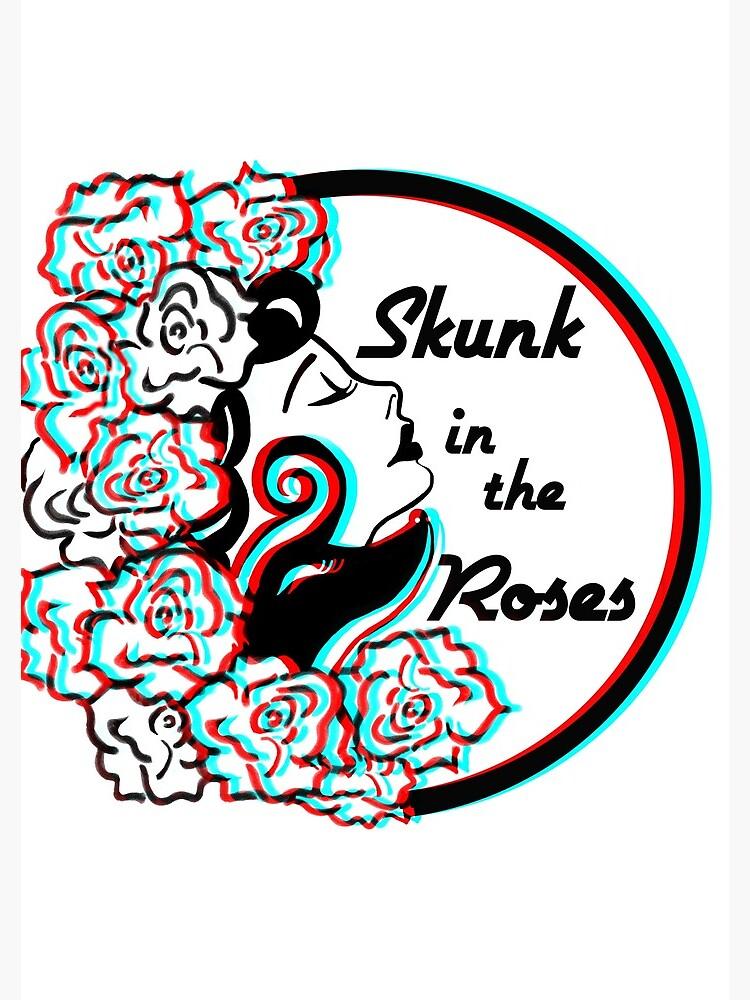 Skunk in the Roses  by debraroberge