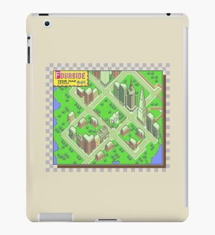 Fourside Town Map - Earthbound/Mother 2 iPad Case/Skin