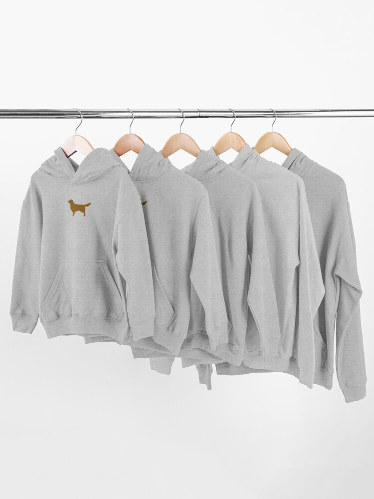 Alternate view of Golden Retriever Silhouette(s) Kids Pullover Hoodie