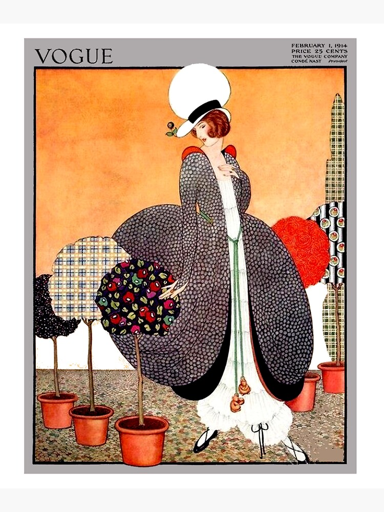 VOGUE : Vintage 1914 Magazine Advertising Print by posterbobs