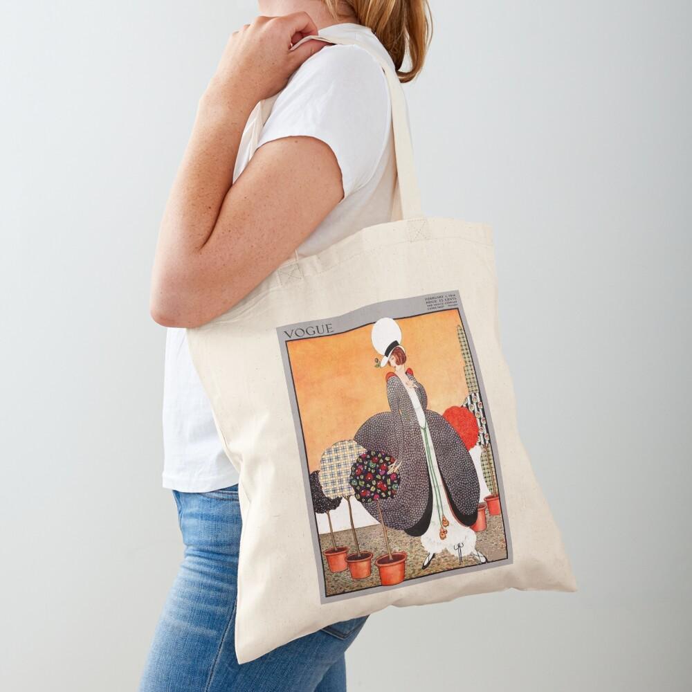 VOGUE : Vintage 1914 Magazine Advertising Print Tote Bag