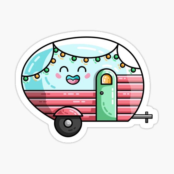 Vintage Caravan Stickers Redbubble