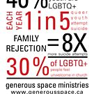 LGBTQ+ Youth Stats - T-shirt by generousspace