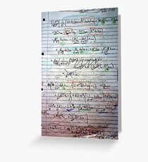 Klein-Gordon Equation Calculations In De Sitter Spacetime Greeting Card