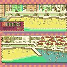 Summers Town Map - Earthbound/Mother 2 by SophisticatC x Studio Momo╰༼ ಠ益ಠ ༽