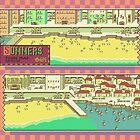 Summers Town Map - Earthbound/Mother 2 by Studio Momo ╰༼ ಠ益ಠ ༽