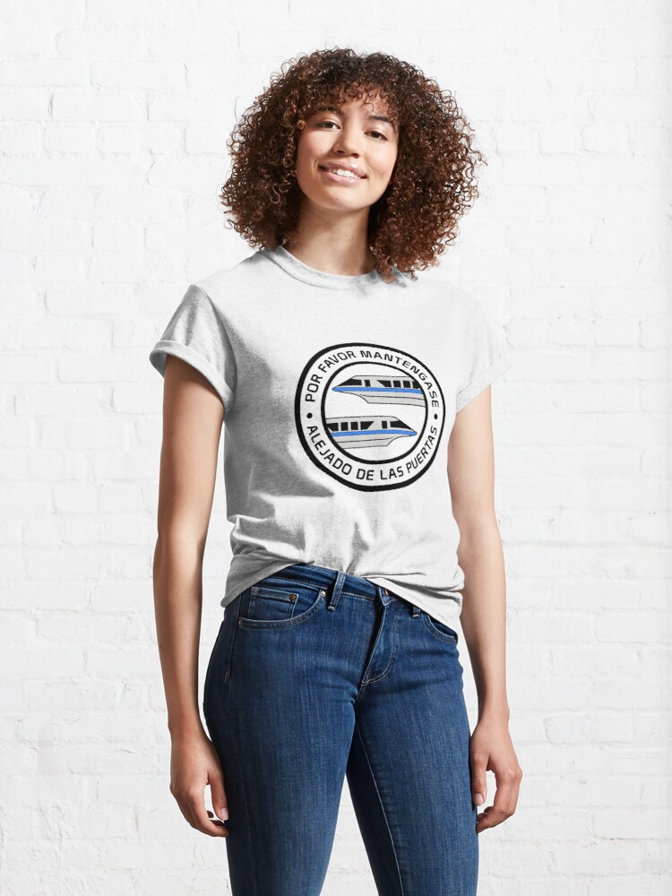 Alternate view of MonorailPorFavorBlue Classic T-Shirt