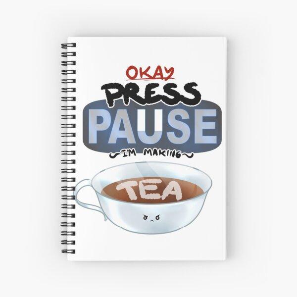 Ragequit Tea Break Spiral Notebook