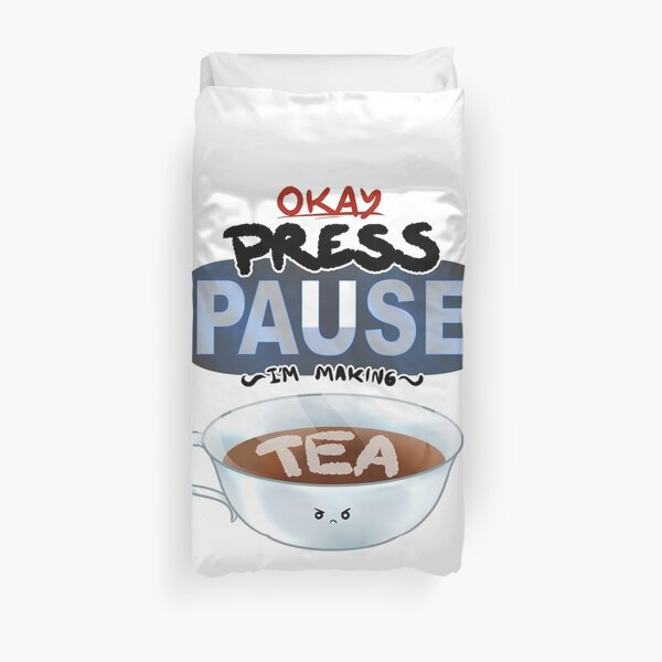 Ragequit Tea Break Duvet Cover