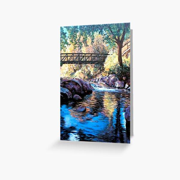 Boulder Creek Bridge - Late Afternoon Greeting Card