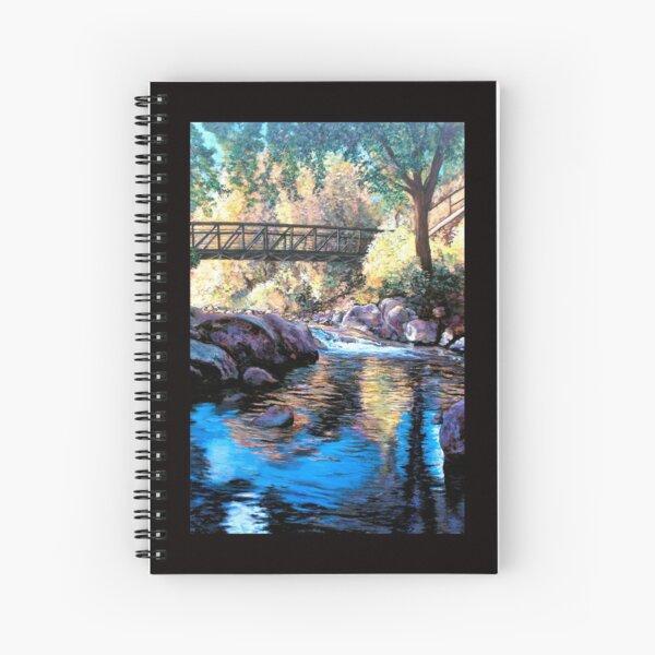 Boulder Creek Bridge - Late Afternoon Spiral Notebook
