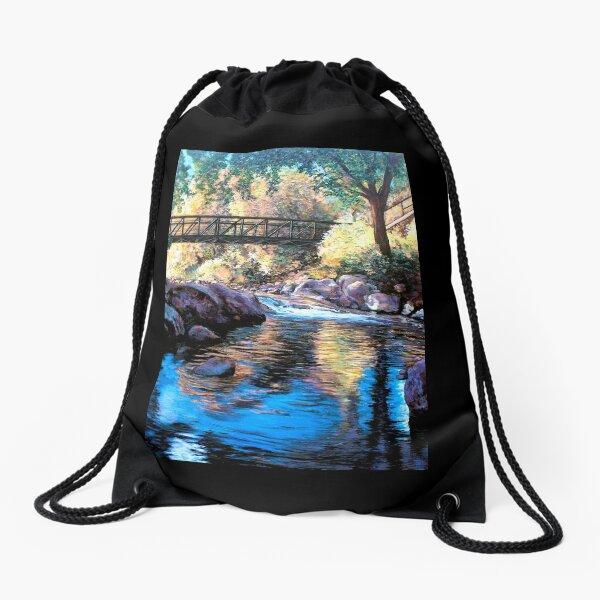 Boulder Creek Bridge - Late Afternoon Drawstring Bag