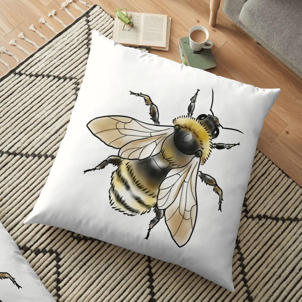 FUZZY BEE Floor Pillow