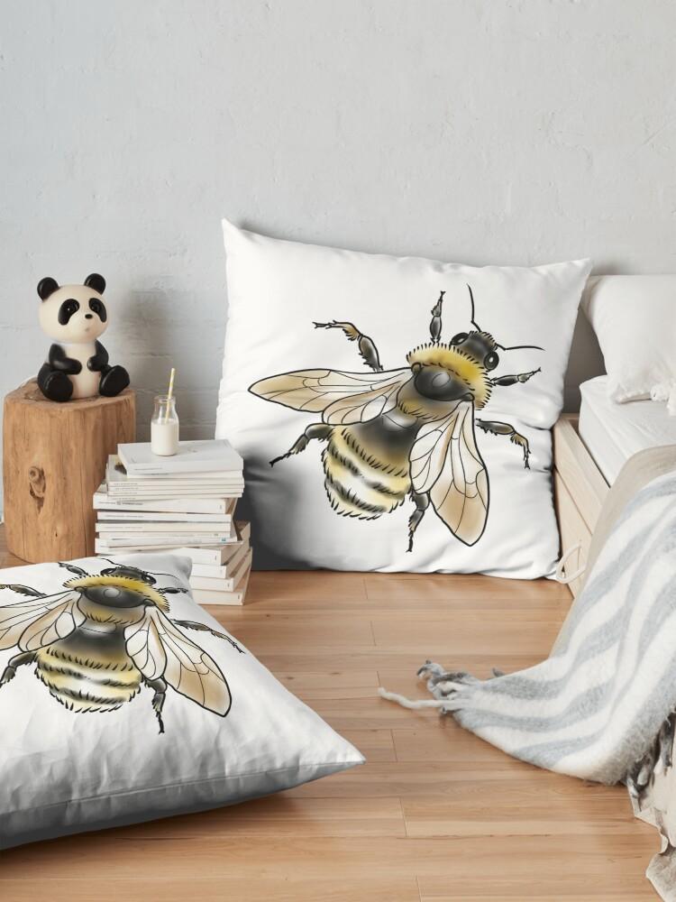 Alternate view of FUZZY BEE Floor Pillow