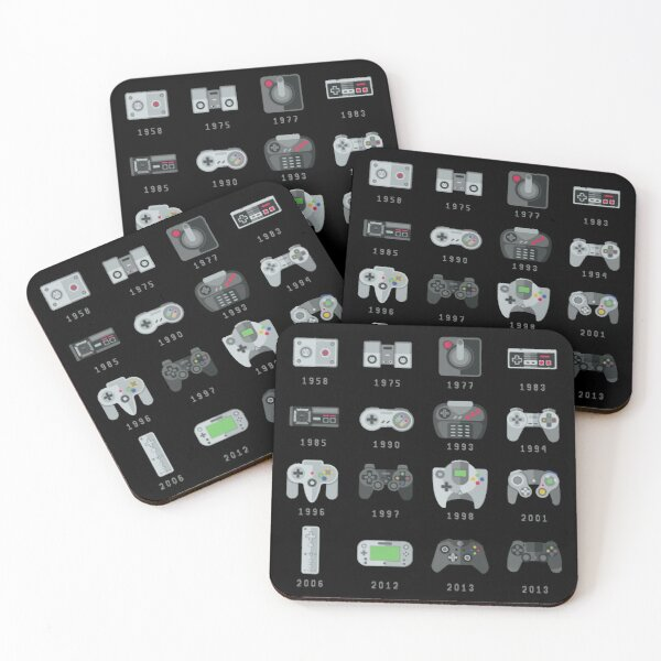 Geek Gaming Controllers  Coasters (Set of 4)