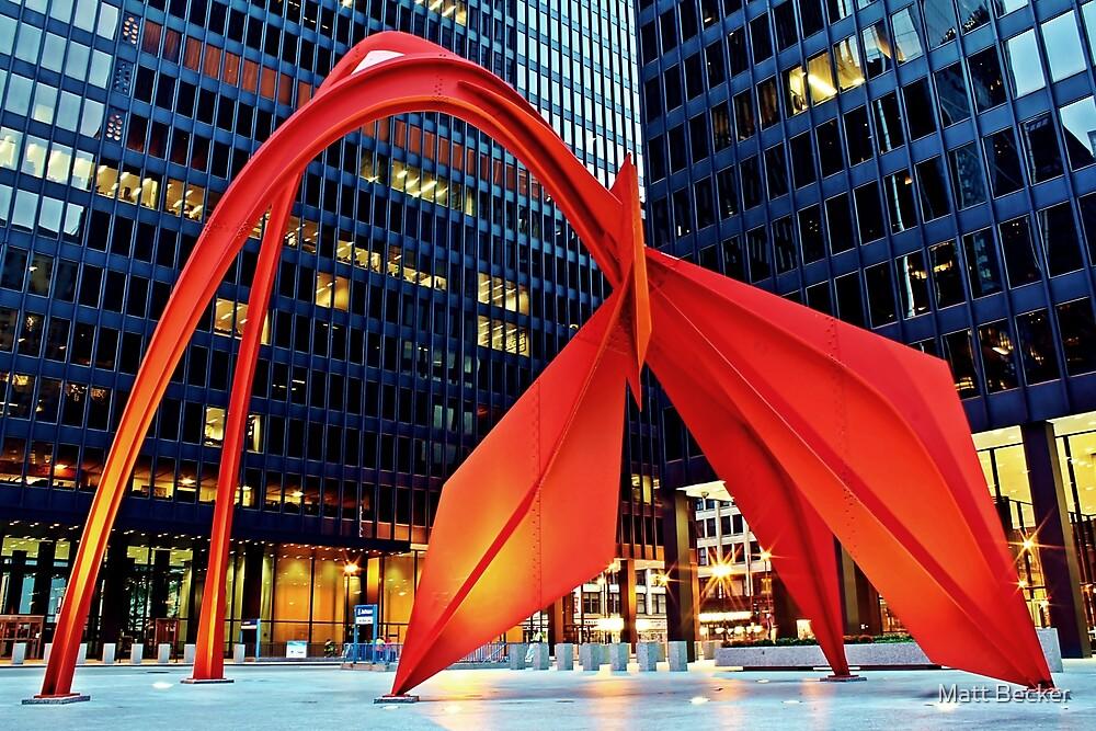 Calder's Flamingo by Matt Becker