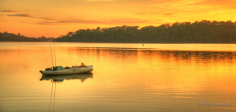 Drifting Away - Narrabeen Lakes, Sydney Australia - The HDR Experience by Philip Johnson