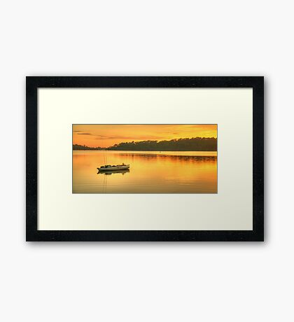 Drifting Away - Narrabeen Lakes, Sydney Australia - The HDR Experience Framed Print