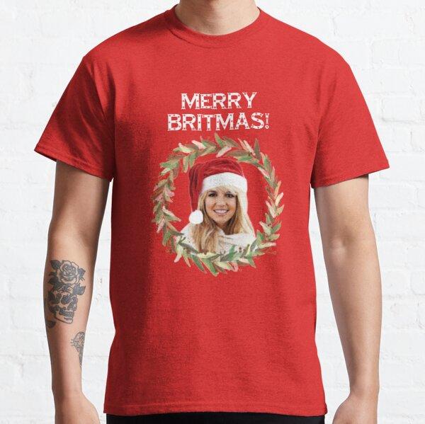 Merry Britmas - Para celebrar una Navidad muy britney (texto blanco) Camiseta clásica