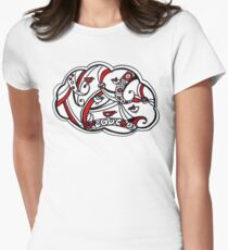 What's black, white and red all over? Women's Fitted T-Shirt