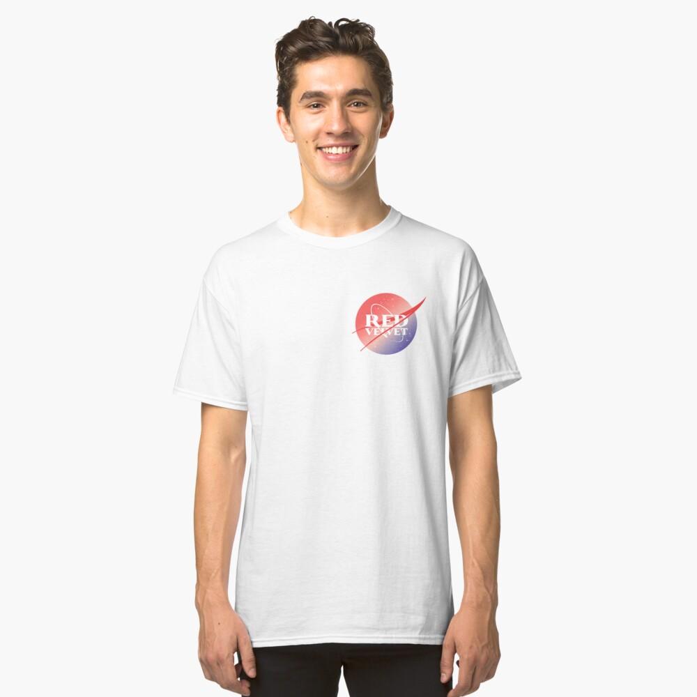 Red velvet nasa inspired logo Camiseta clásica