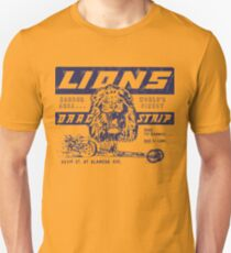 Once Upon A Time In Hollywood Brad Pitt / Cliff Booth Lions Drag Strip distressed Slim Fit T-Shirt