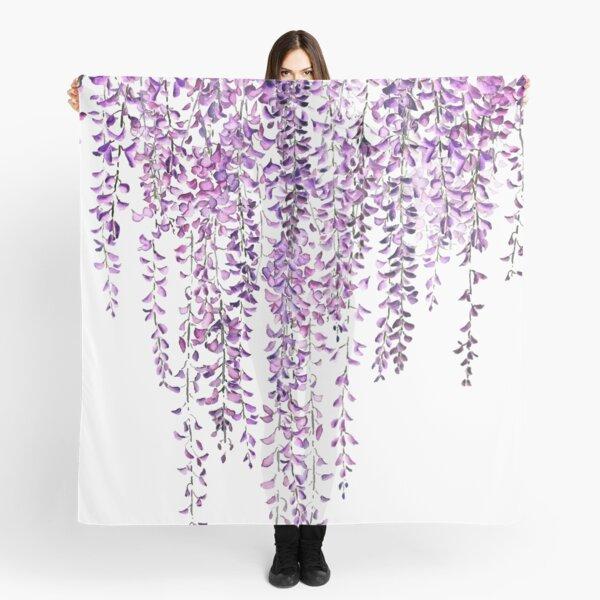 purple wisteria  in bloom  Scarf