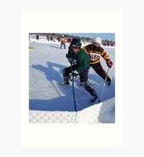 Pond Hockey - Hockey Players Art Print