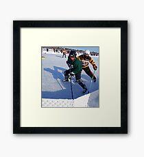 Pond Hockey - Hockey Players Framed Print