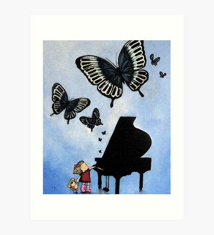 Butterfly Dance on middle C #3 - photoshop Art Print