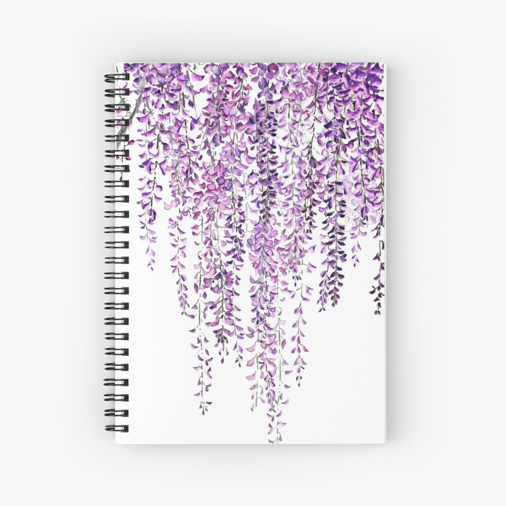 purple wisteria  in bloom  Spiral Notebook