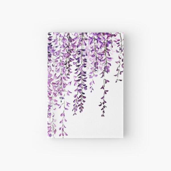 purple wisteria  in bloom  Hardcover Journal