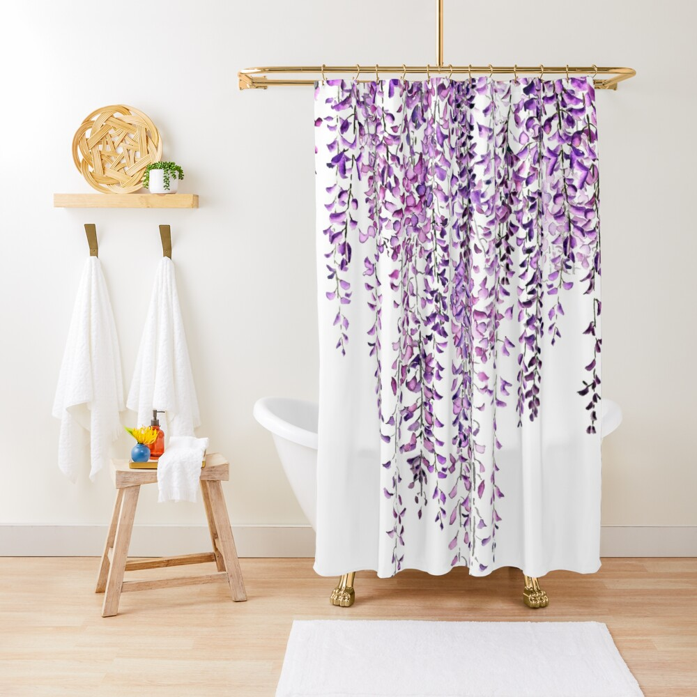purple wisteria  in bloom  Shower Curtain