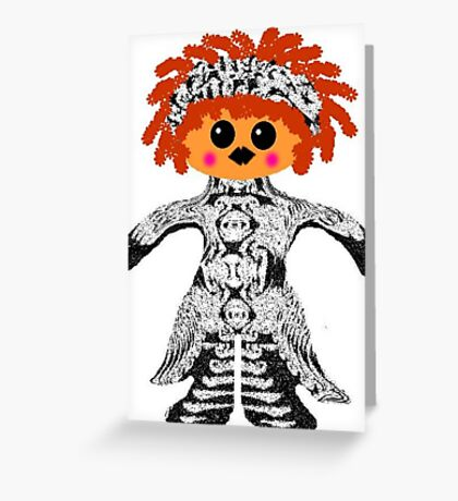 "My Little ""Voodoo Child"" Rag Doll Greeting Card"