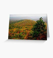Arkansas Ozarks Rolling Hills Greeting Card